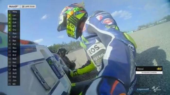 Inilah Penyebab Rossi Terjatuh dan Gagal Menjegal Marquez Jadi Juara