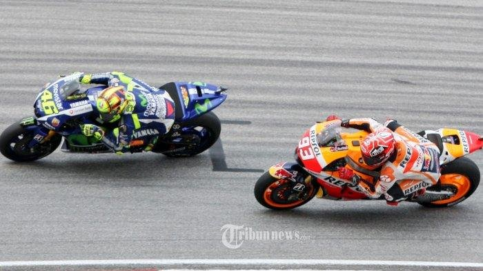 Finis Pertama GP Belanda, Perolehan Poin Marc Marquez Jauhi Valentino Rossi di Klasemen Sementara