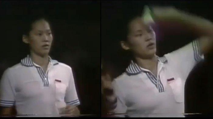 Verawaty Fajrin, ratu bulutangkis Indonesia, saat tampil sebagai tunggal putri.