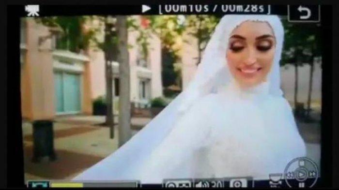 Pengantin Wanita Sedang Foto Prewedding Langsung Kabur Saat Ledakan di Beirut, Videonya Viral