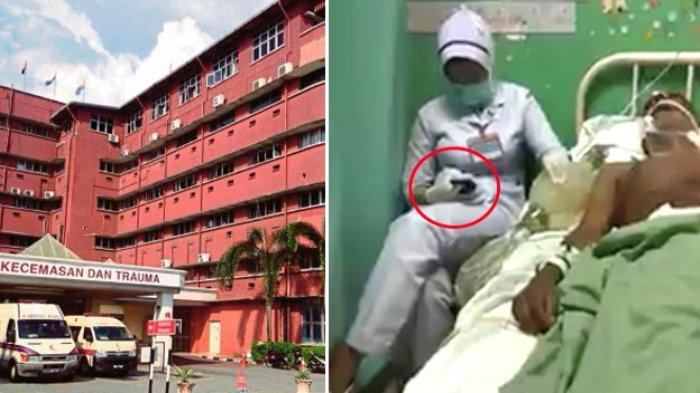 Terekam Video, Perawat Main HP saat Sedang Beri Bantuan Pernapasan pada Pasien
