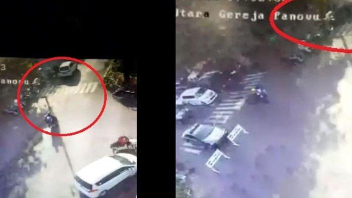 Beredar Video Rekaman CCTV Detik-detik Bom Meledak di Gereja Surabaya