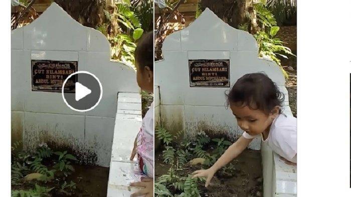 Video Anak Polisi Memanggil Mamanya di Makam Jadi Viral, Ayahnya Menitiskan Air Mata