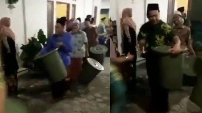 Fakta di Balik Video Viral Jemaah Hajatan Dapat Bingkisan Wadah Tong Plastik Besar di Mojokerto