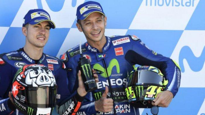 Maverick Vinales Tanya Rahasia Valentino Rossi, Tetap Senyum Meski SedangBermasalah