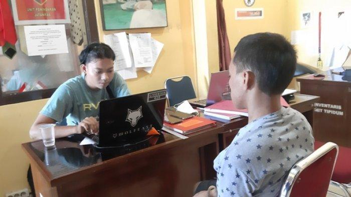Dipicu Dendam Pegawai Mini Market Ditusuk, Pelaku Berhasil Ditangkap Tim Resmob Polres Belitung,