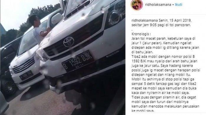 Video Viral Ulah Arogan Sopir Fortuner Memaki dan Injak Mobil Orang Lain di Tol Pancoran