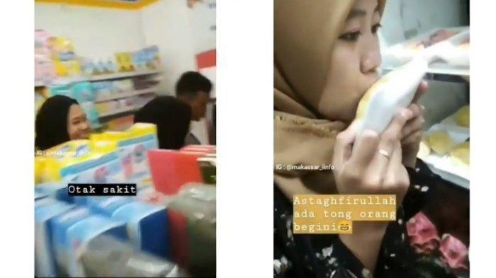 Mahasiswi Bikin Heboh, Jatuhkan Barang di Rak Supermarket hingga Cium Durian Dalam Kulkas
