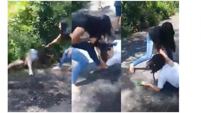 Siswi SMP dan SMK Nekat Berkelahi karena Rebutan Pacar di Areal Kebun Jagung