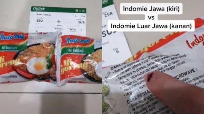 Video TikTok Perbedaan Indomie yang Dijual di Jawa dan Luar Jawa Viral, Begini Pengakuan Pengunggah