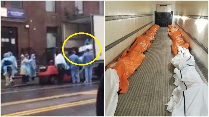 Ketika Jenazah Corona Harus Ditampung ke Dalam Bak Truk Karena RS Penuh Sesak, Foto dan Video Viral