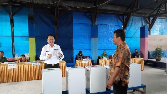 Wabup Belitung Nilai Pencoblosan Lima Surat Suara Agak Rumit