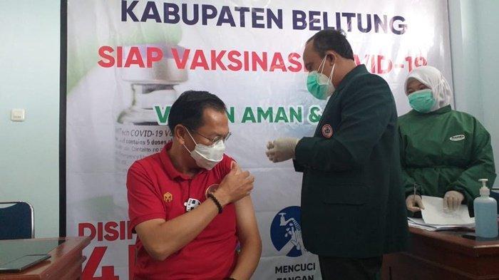 Cerita Wabup Belitung, Tujuh Kali Cek Tensi Sebelum Bisa Divaksin Covid-19