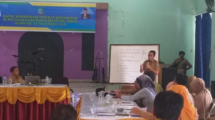 Wabup Belitung Timur Nilai Rakor Bersama Camat bisa Memetakan Permasalahan di Kecamatan
