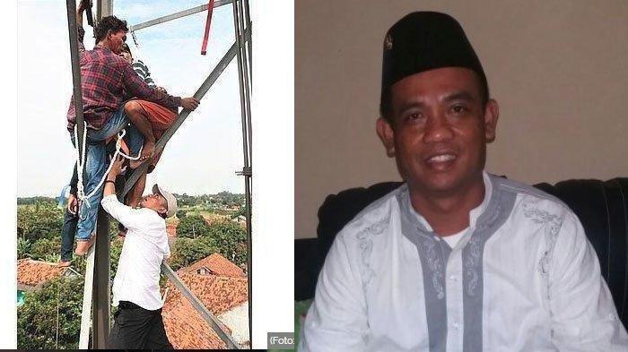 Wakil Bupati Purwakarta H Aming Nekat Panjat Tower Gagalkan Upaya Bunuh Diri Bapak dan Balita
