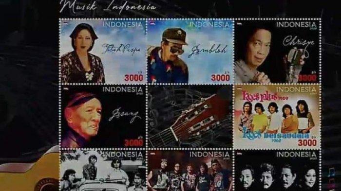 Wajah Artis dan Band Legendaris Indonesia Ini Diabadikan Dalam Bentuk Perangko, Siapa Saja Mereka?
