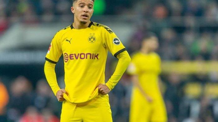Winger asal Inggris, Jadon Sancho, saat memperkuat Borussia Dortmund.
