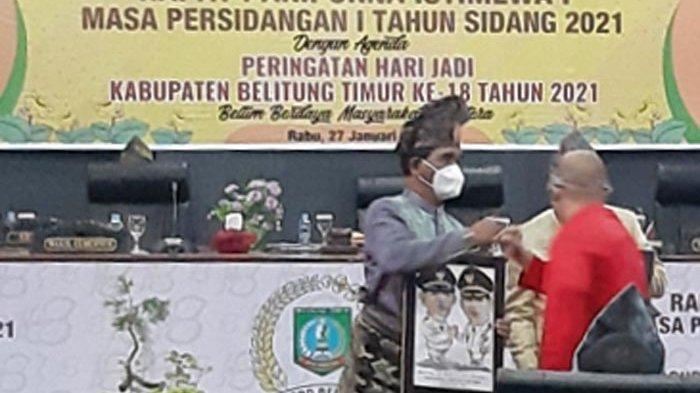 Momen Terakhir Ikut Rapat Paripurna HUT Belitung Timur, Ini yang Disampaikan Bupati Yuslih Ihza