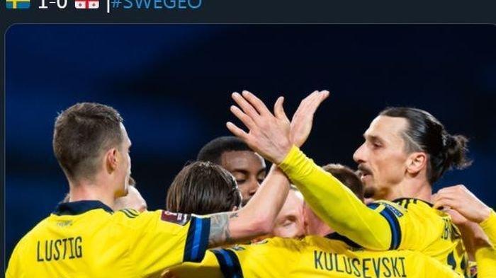 Saktinya Zlatan Ibrahimovic, Sudah Tahu bakal Cetak Assist 10 Detik sebelum Gol Swedia