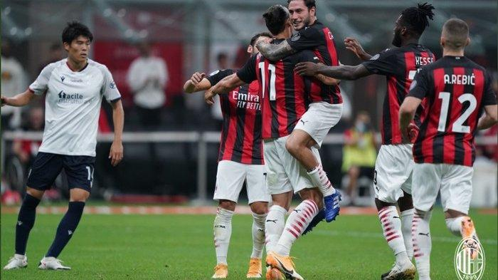 HASIL Lengkap Liga Italia Milan Vs Bologna, Ibrahimovic Borong 2 Gol, Milan Duduk di Posisi Ketiga