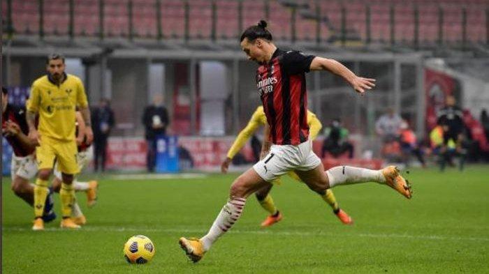 VIDEO Cetak Gol Pakai Paha, Zlatan Ibrahimovic Bikin Rekor, Pemain Tertua 10 Gol 8 Pekan Liga Italia