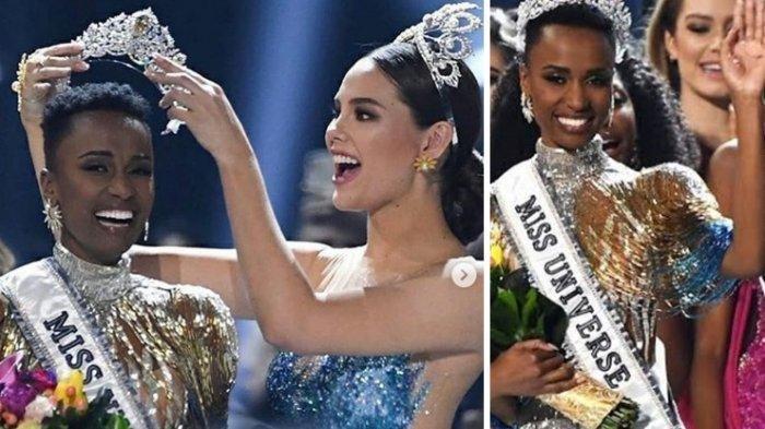 Selamat, Zozibini Tunzi dari Afrika Selatan Jawara Miss Universe 2019, Indonesia 10 Besar?