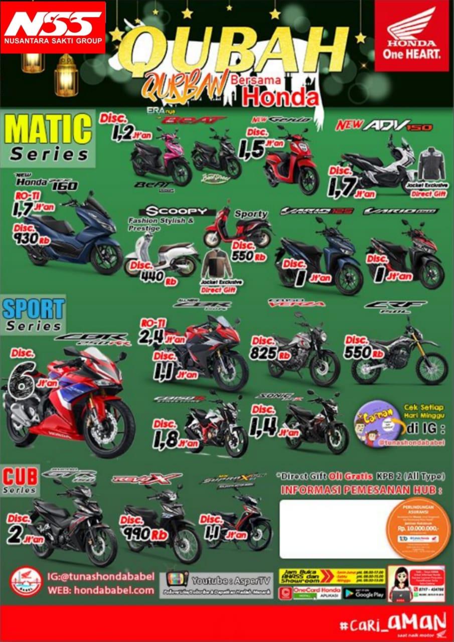 Daftar Harga-Promo Qubah (Qurban Bersama Honda), Beli Motor Honda Dapat Direct Gift Di Nss Tanjungpandan