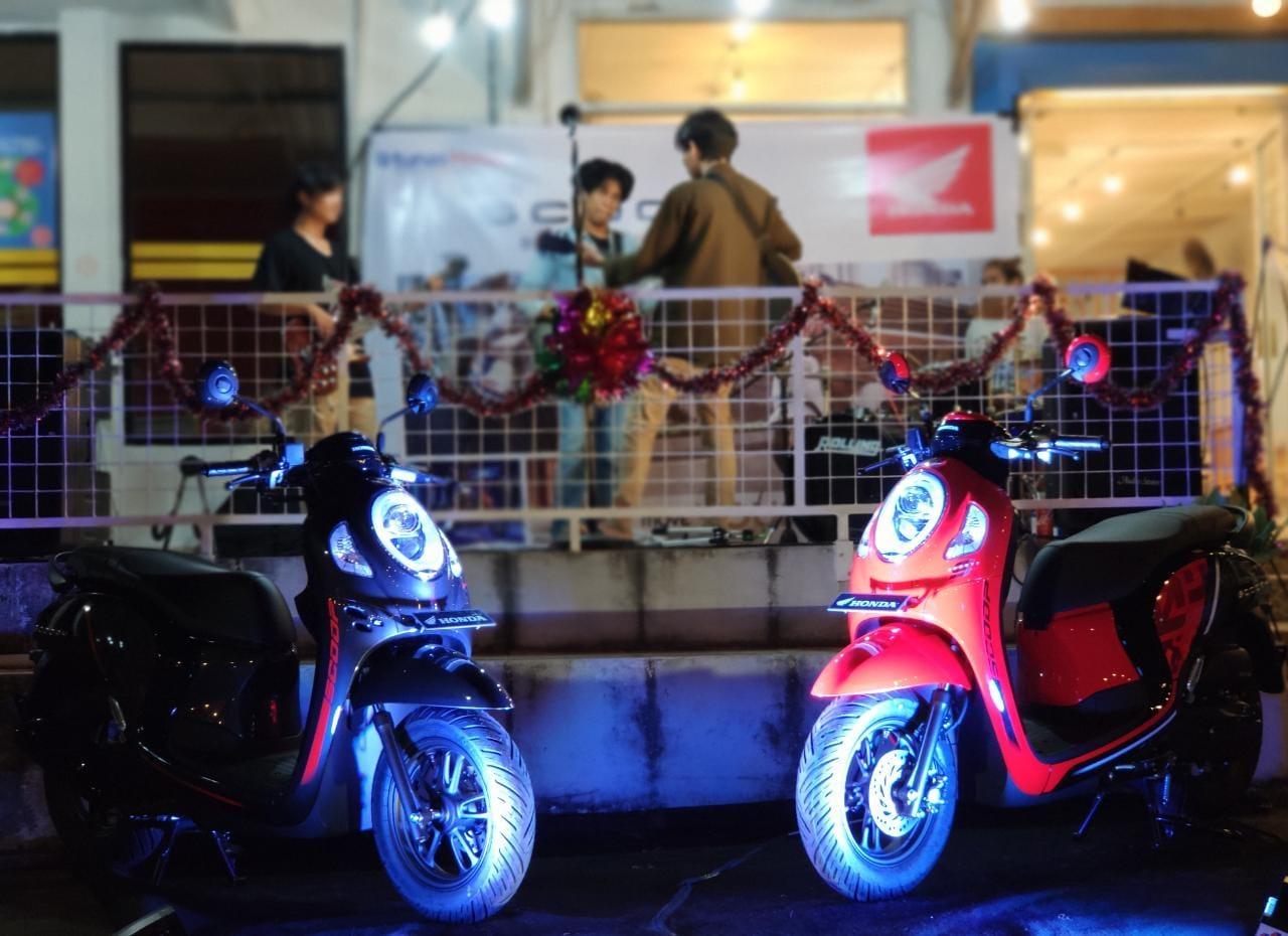 Dealer honda Asia Surya Perkasa belitung mengadakan Roadshow Mini Launching New Honda Scoopy, di Satu Ruang Coffee (E-Kopi) yang terletak di pusat kota tanjung pandan.
