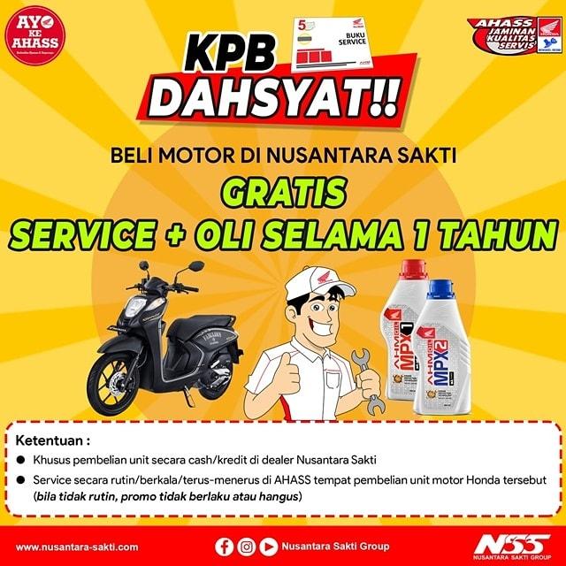 KPB Dahsyat, beli motor gratis servis + ganti oli