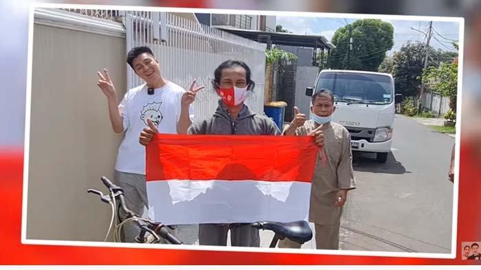 Demi Ketemu Baim Wong, Pria Ini Gowes Sepeda 11 Hari dari Malang, Nangis Diberi Hadiah : Ini Sejarah