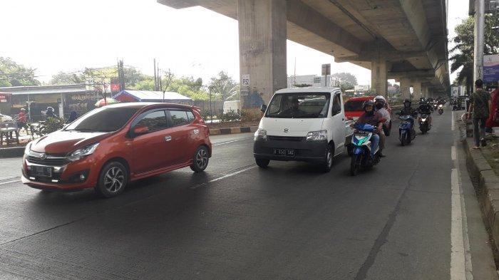 Kondisi Lalu Lintas Jalan Abdullah bin Nuh Bogor Rabu 29 Juli 2020