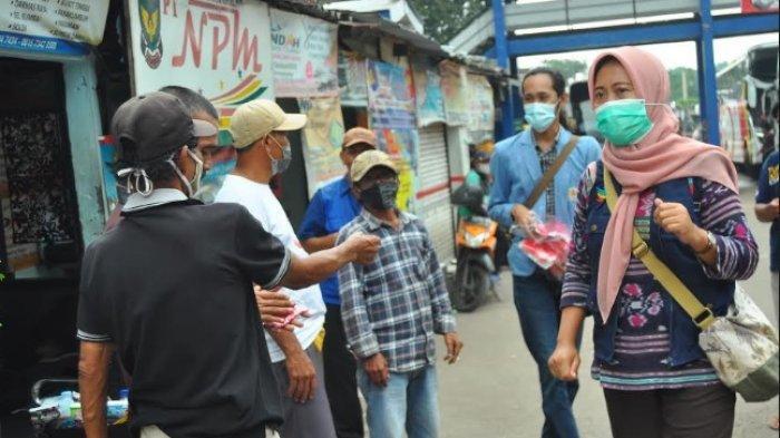 Kampanye Prokes BEM Se-Bogor Masih Temui Sopir Hingga Pedagang di Terminal Baranangsiang