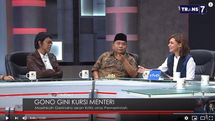 Tak Terima Adian dan Najwa Sebut Prabowo Pembantu Jokowi, Arief Poyuono Diam Dengar Jawaban Yunarto