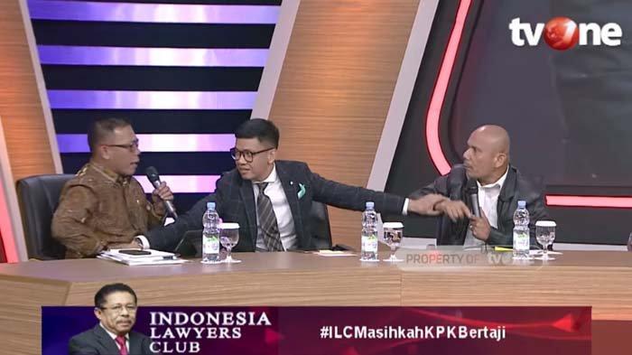 Debat Panas Saor Siagian dan Masinton Pasaribu Bahas KPK, Nyaris Adu Jotos saat Live : Kau Konyol !