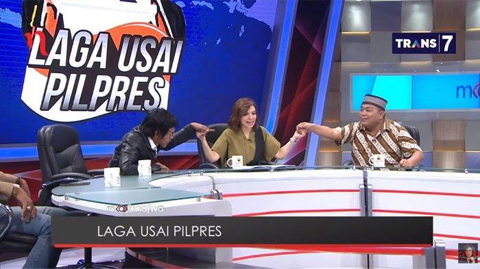 Najwa Shihab Pegangi Tangan Adian & Poyuono Saat Debatkan Orde Baru & Prabowo, Eggi Sudjana: Norak !