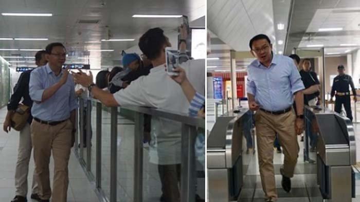 Penumpang Heboh Lihat Ahok Naik MRT, Nicholas Sean: Sulit Jalan dengan Pria Ini
