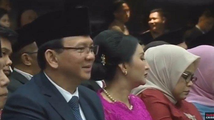 Hadiri Pelantikan DPRD DKI Periode 2019-2024, Ahok Duduk di Samping Istri Anies Baswedan