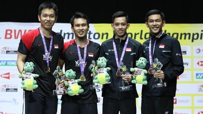 Hasil Hong Kong Open 2019: Fajar/Rian Tumbang dari Malaysia, Ahsan/Hendra Menangkan Derbi Saudara
