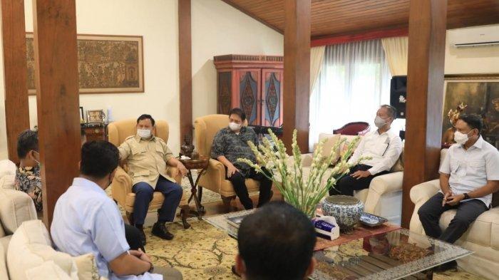 Pertemuan Airlangga dengan Prabowo Dikaitkan dengan Pemilu 2024, Golkar: Wajar Saja