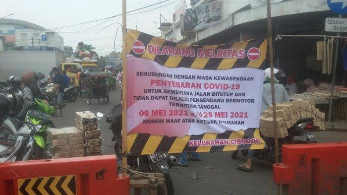 Akses Jalan MA Salmun Menuju Jalan Dewi Sartika Kota Bogor saat Ini Ditutup Sementara