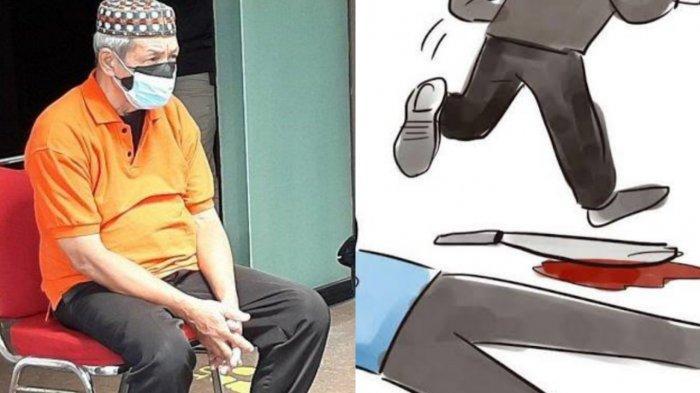 Pura-pura Minta Tolong Usai Bunuh Istri, Aksi Licik Kakek Terkuak, Warga Lihat Noda di Baju Pelaku