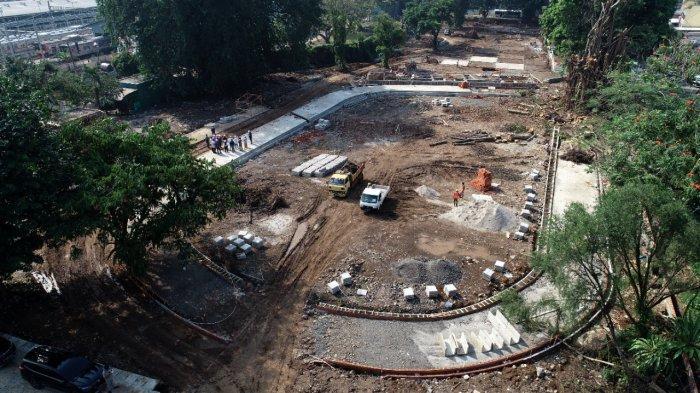 Pengerjaan Alun-alun Kota Bogor Hampir 50 Persen, Disperumkim Klaim Progresnya Bagus