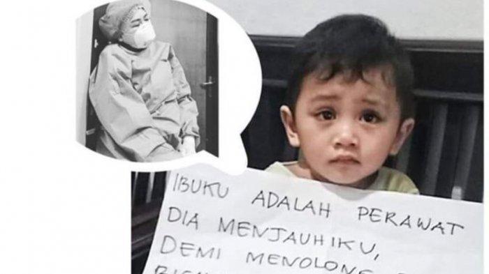 Viral Foto Anak Perawat Curhat Dijauhi Ibunya yang Rawat Pasien Corona, Alissa Wahid: Pengen Nangis