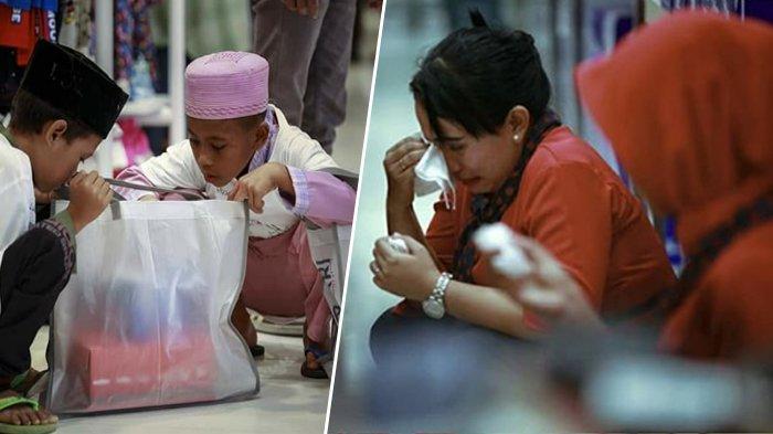 Viral Kisah Anak Yatim Belanja Baju Lebaran di Mal, Pegawai Menangis Hingga Ada yang Buka Sandal