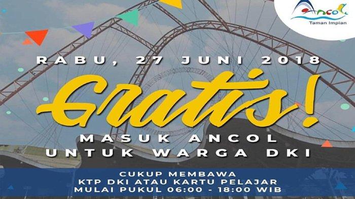 Masuk Ancol Gratis Khusus Warga DKI Jakarta di Libur Nasional Pilkada Besok