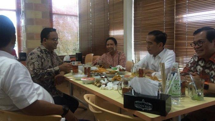Ketika Anies Baswedan dan Jokowi Semeja Makan Siang Bersama di Sunter