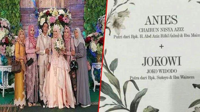 Akhirnya Jokowi dan Anies Bersanding di Pelaminan, Seperti Ini Kemeriahannya