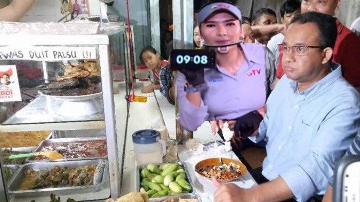 Fotonya Dibikin Meme, Anies Baswedan Jawab Tantangan Makan di Warteg Cuma 20 Menit : Bisa !