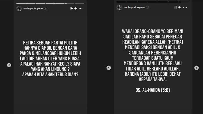 Respon menohok Annisa Pohan menanggapi kisruh Partai Demokrat