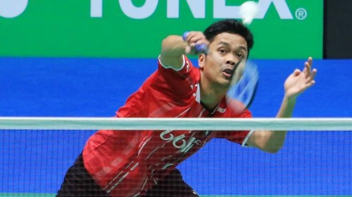 Tonton ! Live Streaming Anthony Ginting vs Chou Tien Chen, Korea Open 2018 Pukul 16.00